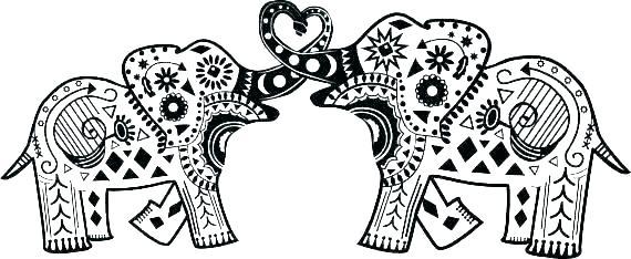 coloring page elephant mandala to color noticiagrapclub