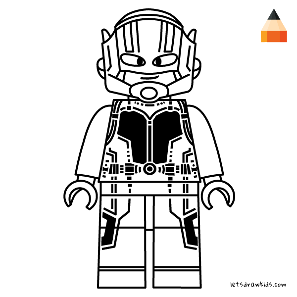 coloring page for kids drawing ant man lego coloring