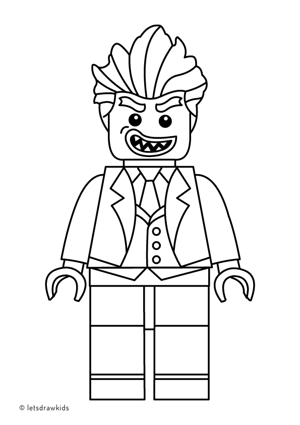 coloring page for kids lego joker from the lego batman