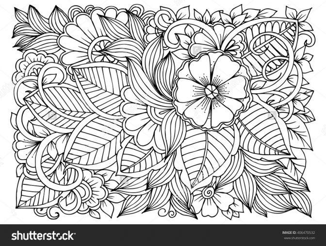 coloring page for kids relaxing coloring pages leave