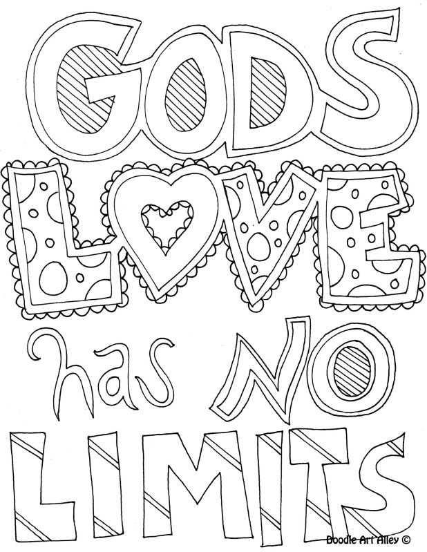 coloring page gods love has no limits education