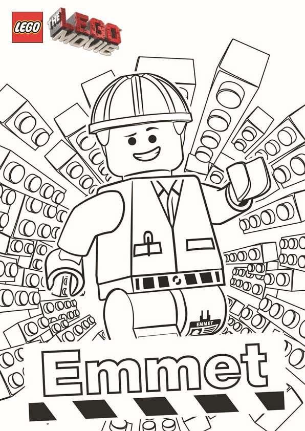 coloring page lego movie emmet lego movie party lego