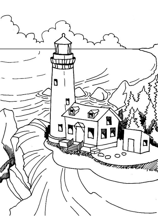 coloring page lighthouse free printable coloring pages