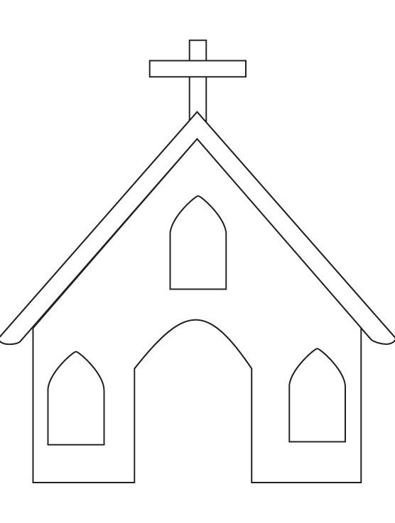 coloring page of a church church coloring page download