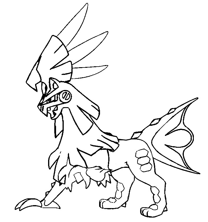 coloring page pokmon sun and moon silvally 58