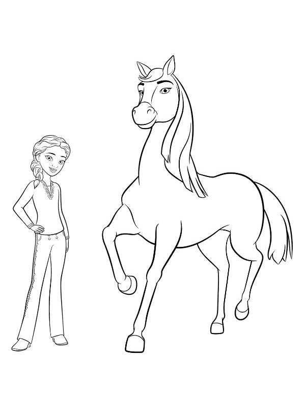 coloring page spirit riding free chica linda pru in 2019
