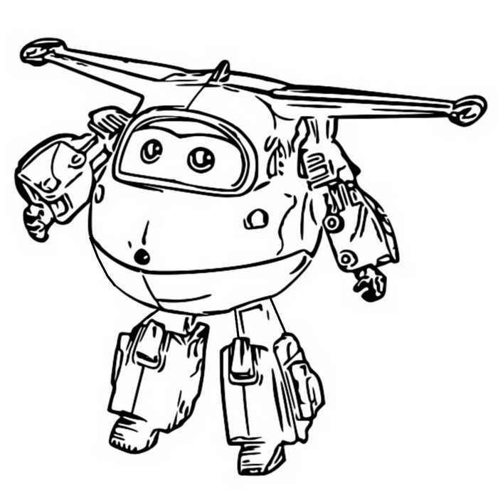 coloring page super wings 1