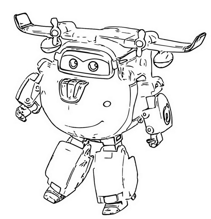 coloring page super wings 6