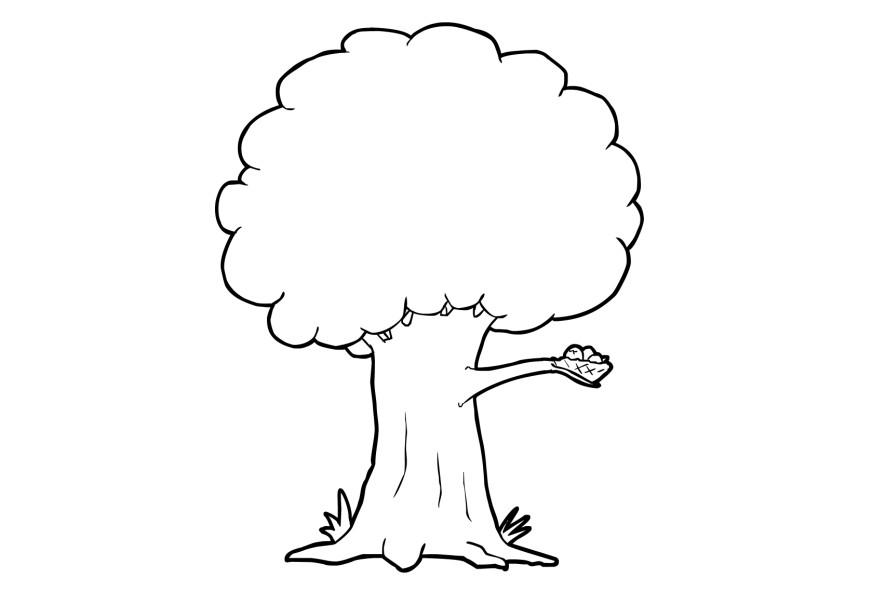 coloring page tree free printable coloring pages