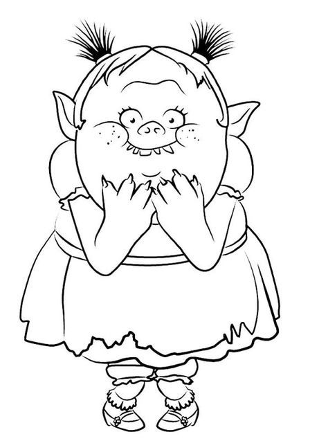 coloring page trolls bridget poppy coloring page cool