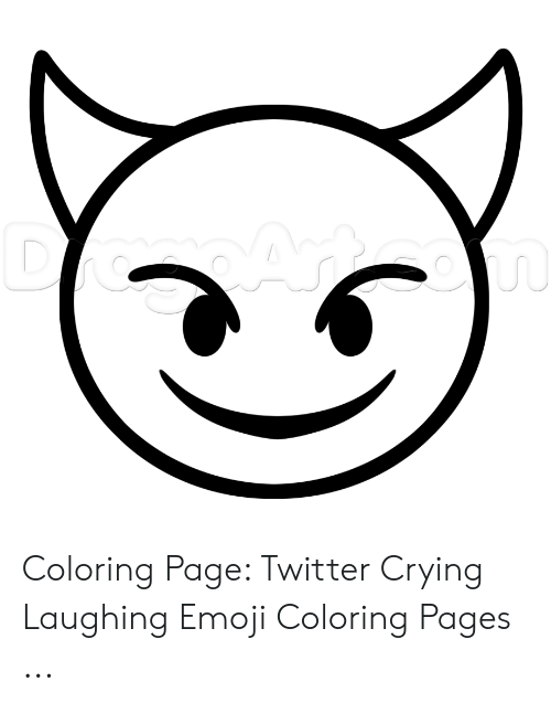 coloring page twitter crying laughing emoji coloring pages