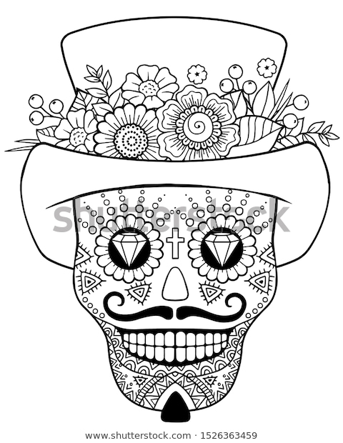 Day Of The Dead Coloring Pages Gallery - Whitesbelfast