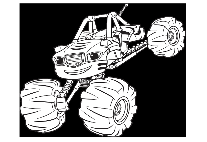 coloring pages blaze and the monster machines gallery fun