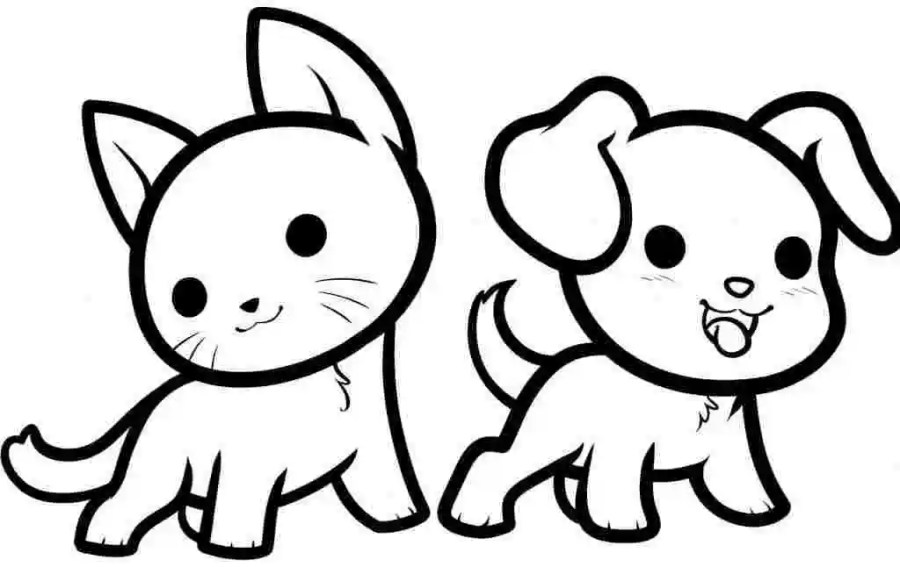 coloring pages cute animal huangfei