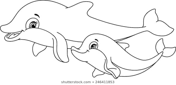 coloring pages dolphins images stock photos vectors