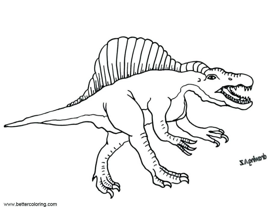 coloring pages download this page spinosaurus jurassic park