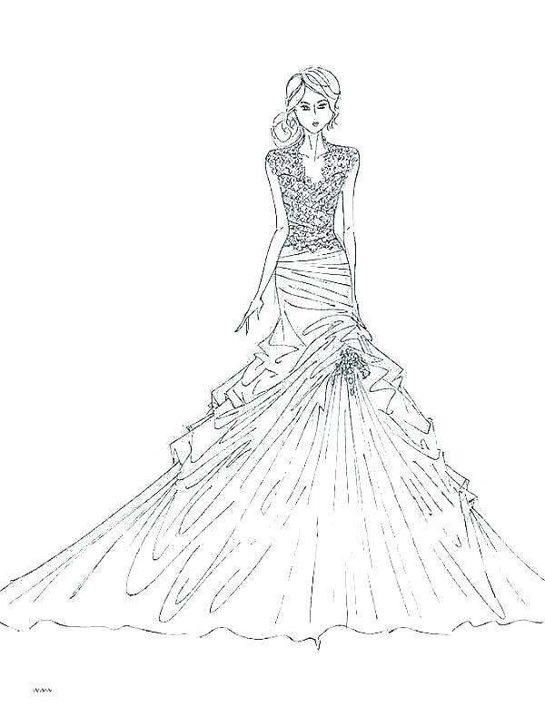 coloring pages fashion dresses zamerpro