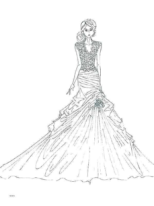 coloring pages fashion dresses zamerpro