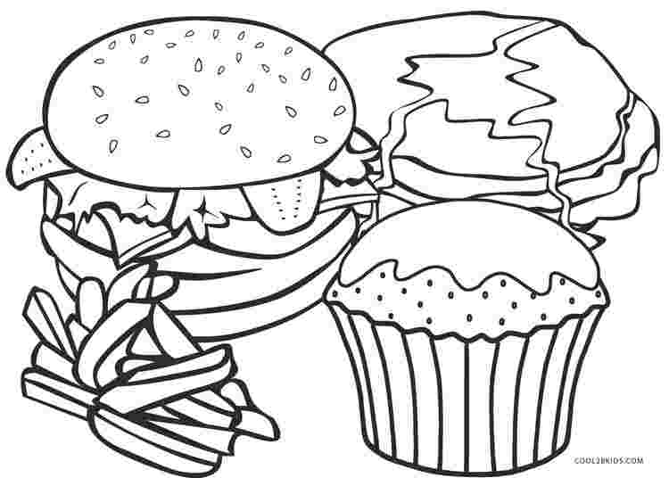 coloring pages fast food food coloring pages