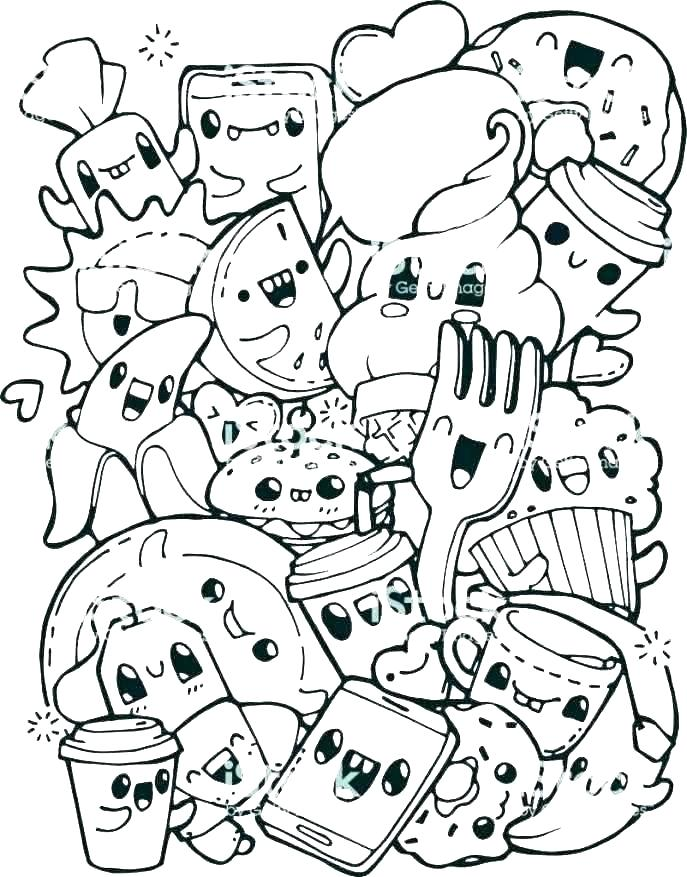 coloring pages food free cute 5 healthy printable wigglepro