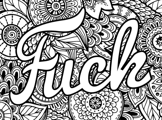 coloring pages for adults cuss words