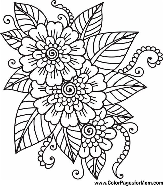 coloring pages for adults flower