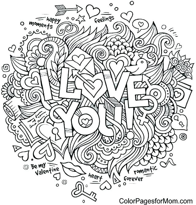 coloring pages for adults i love you pusat hobi