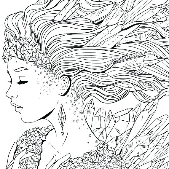 coloring pages for adults mermaid pusat hobi
