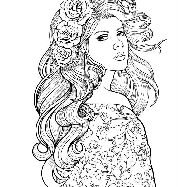 coloring pages for adults of people