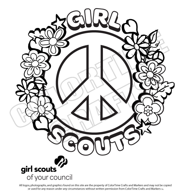 coloring pages for girl scouts timeless miracle