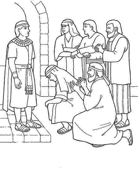 coloring pages for joseph and his brothers joseph and his