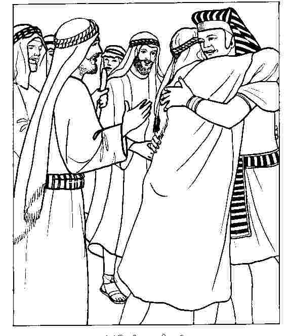 coloring pages for joseph and his brothers joseph forgives