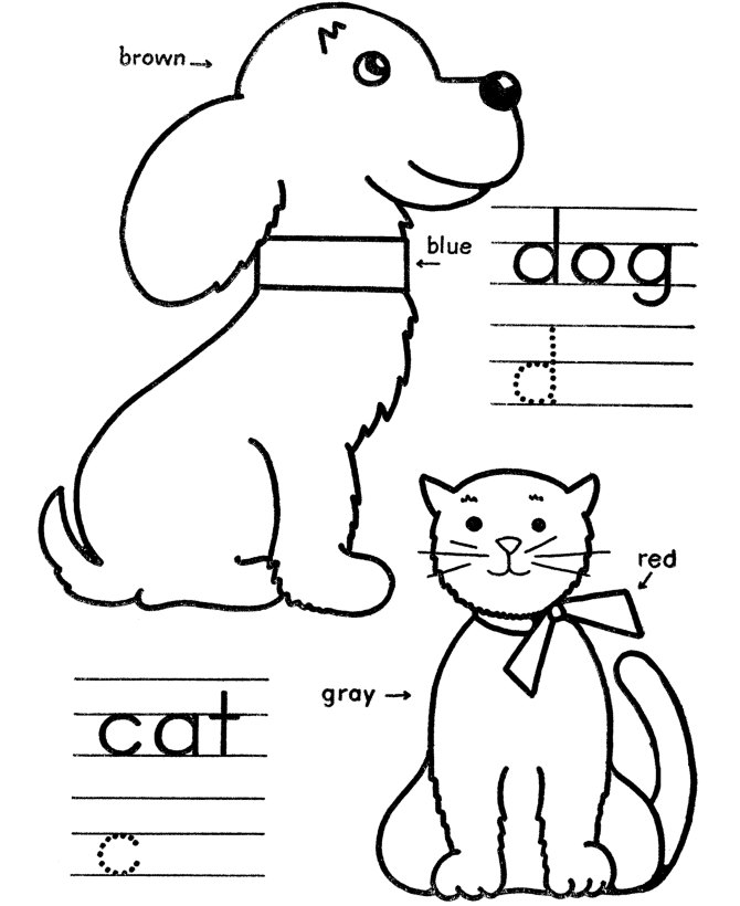 coloring pages for kids educational
