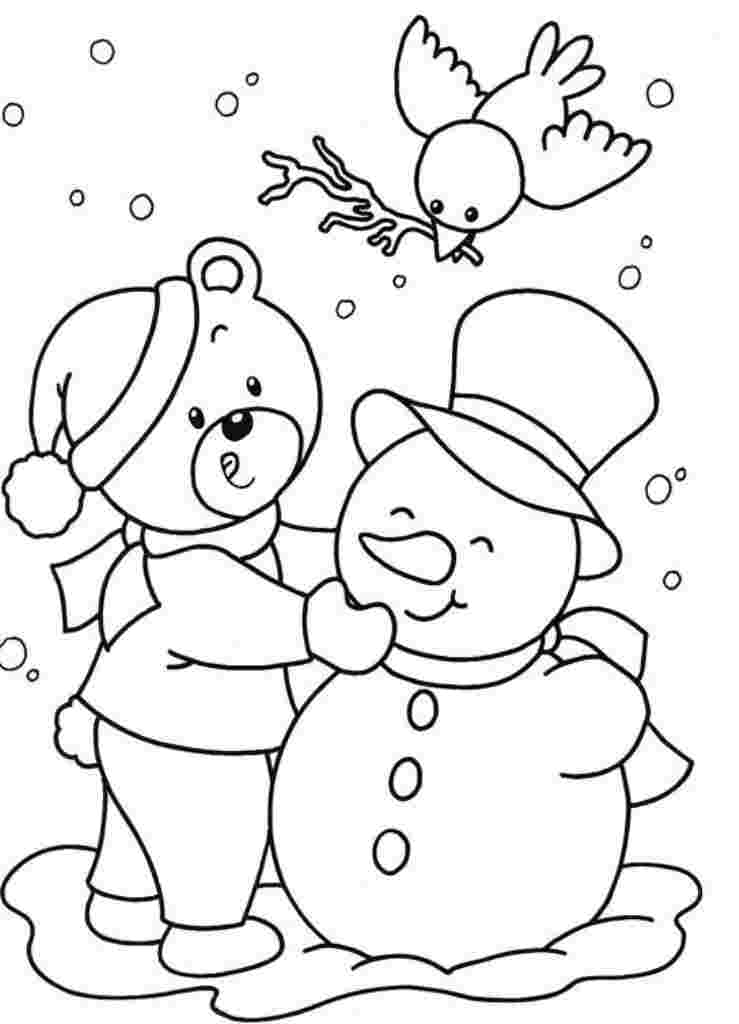 Winter Coloring Pages Pictures Whitesbelfast
