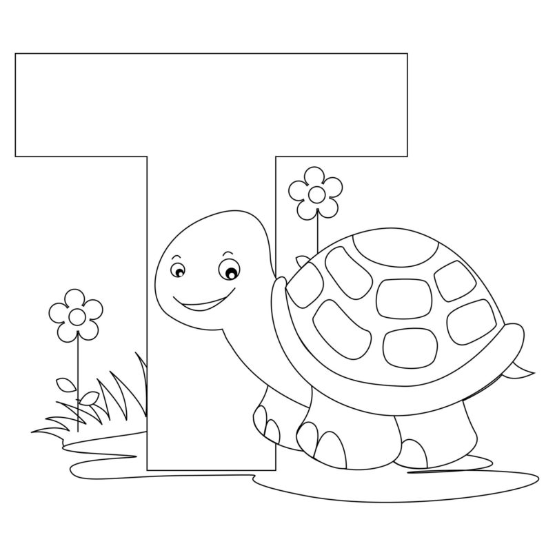coloring pages free printable alphabet coloring for kids