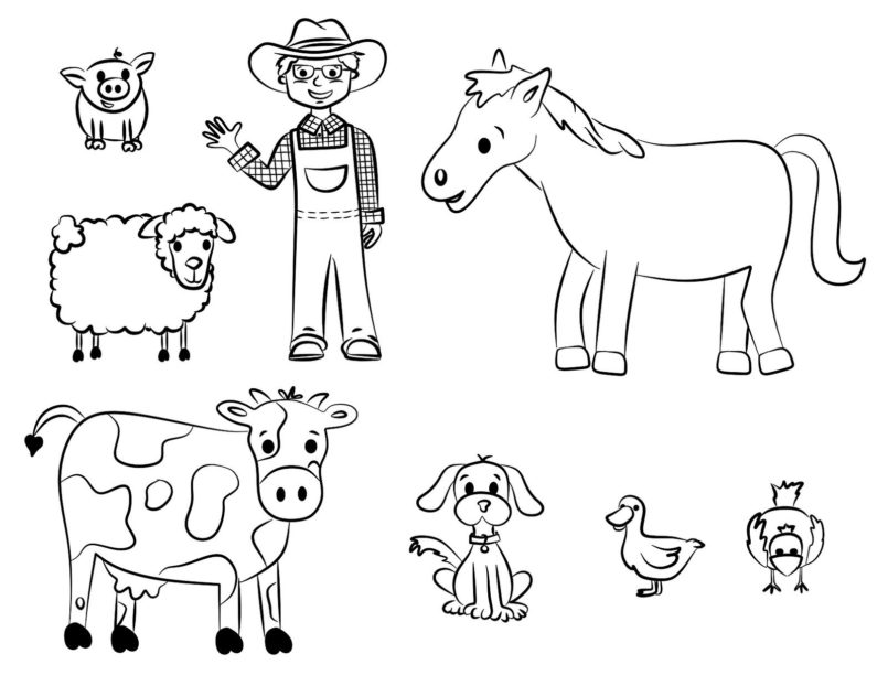 coloring pages free printable farm animal coloring for