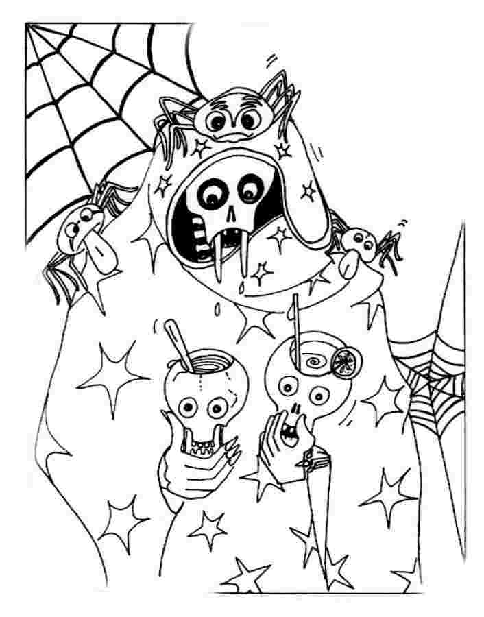 coloring pages halloween scary color hallow holics anonymous