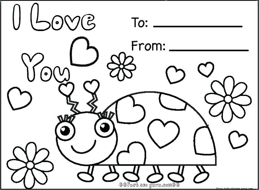 coloring pages happy valentines day at getdrawings