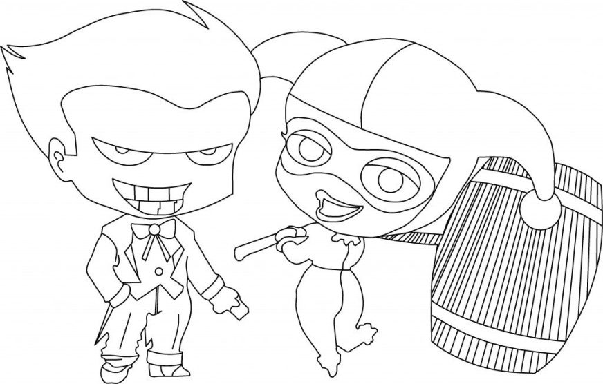 coloring pages harley quinn suicide squad printable cedric