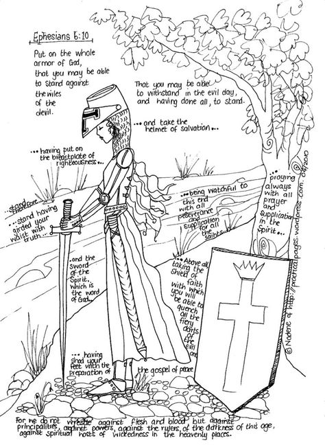 coloring pages heavenly armor of god for kids coloring pages