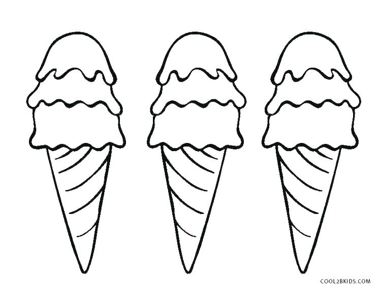 coloring pages ice cream cone colouring sundae appealing