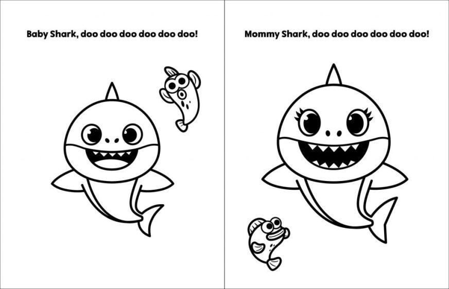 coloring pages ideas 71ntdos8tdl pink fong ba shark