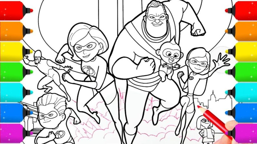 coloring pages ideas astonishing incredibles coloring