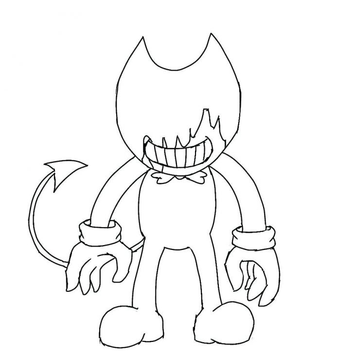 coloring pages ideas bendy and the ink machine coloring