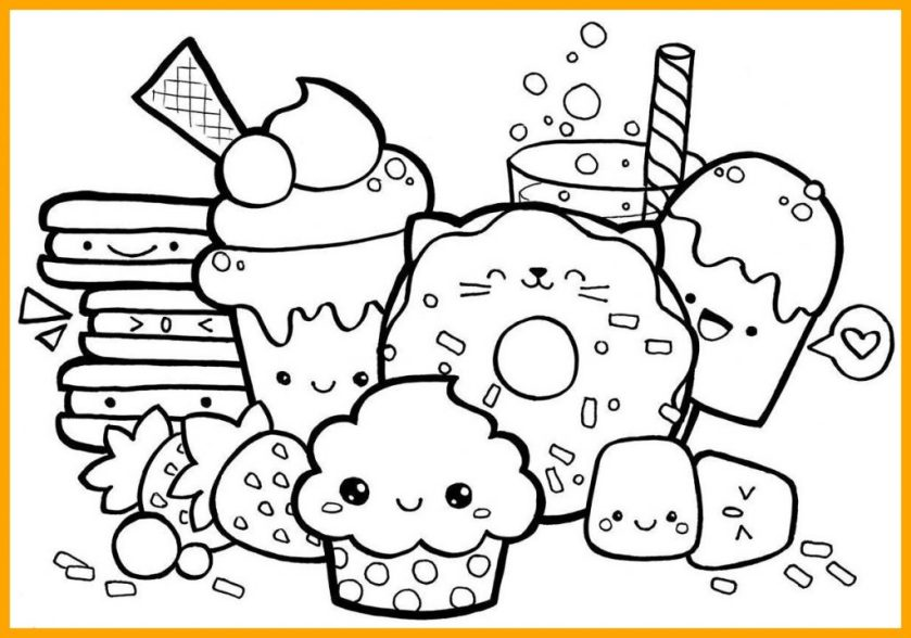 Cute Food Coloring Pages Collection Whitesbelfast