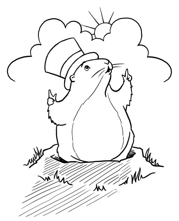 coloring pages ideas remarkable groundhog day coloring
