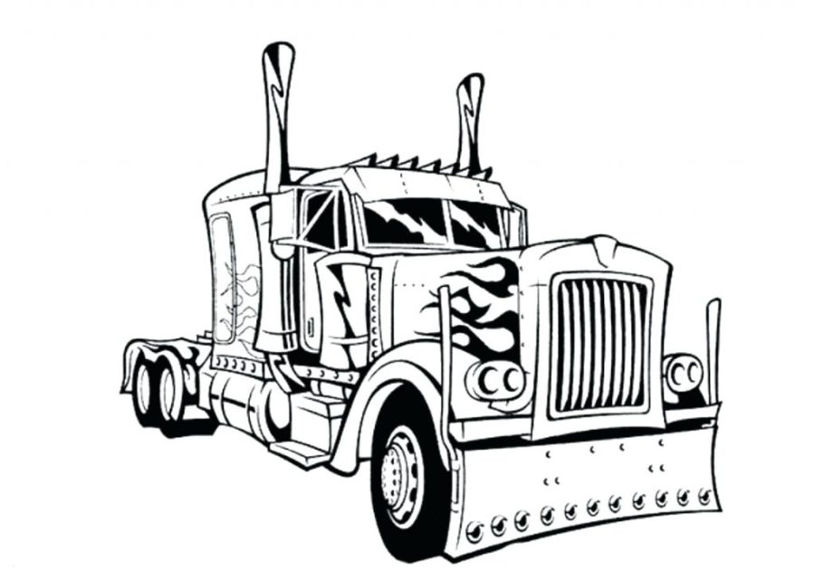 coloring pages ideas semi truck coloring pages free for