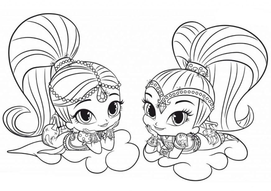coloring pages ideas shimmer and shine coloring book pages