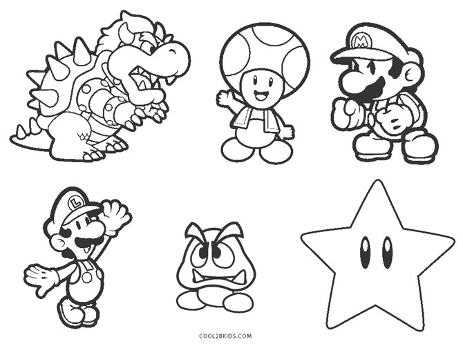coloring pages mario free printable mario brothers coloring