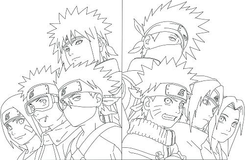 coloring pages naruto